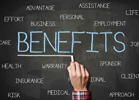 """Image of """"benefits"""" on chalk board"""